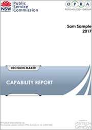 NSW Public Sector Capability Sample Report thumb