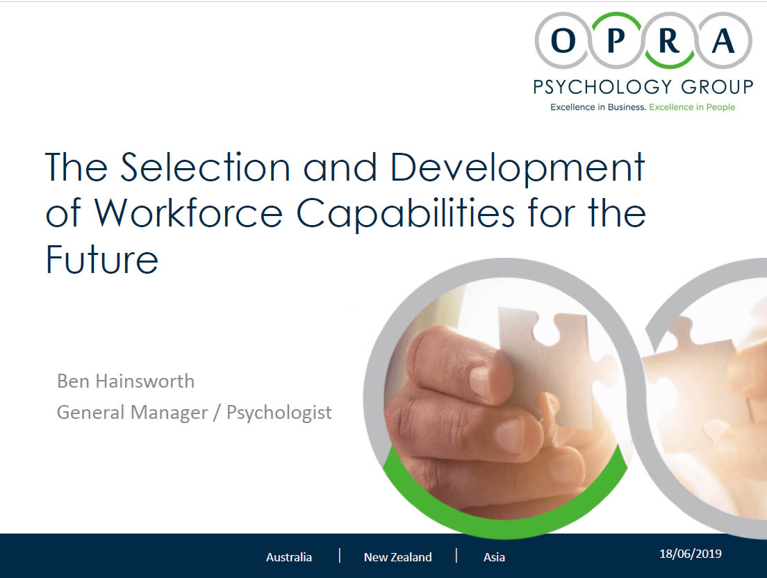 OPRA Future Capabilities