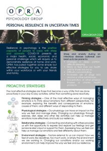 Personal Resilience OPRA Psychology