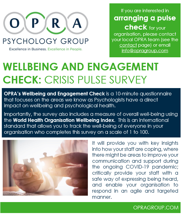 Pulse Survey Summary