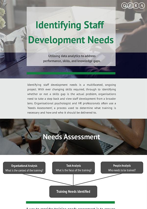 Identifying Staff Development Needs